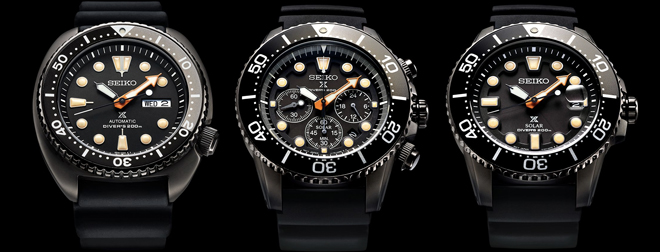dd1f8632ece New Watch  2018 Seiko Prospex Black Series Divers Limited Editions