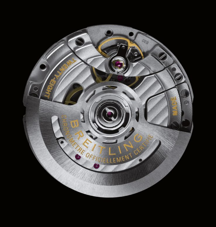 The calibre B20 driving the new Baselworld 2018 Breitling Navitimer Super 8 is a modified version of Tudor's caliber MT5612.