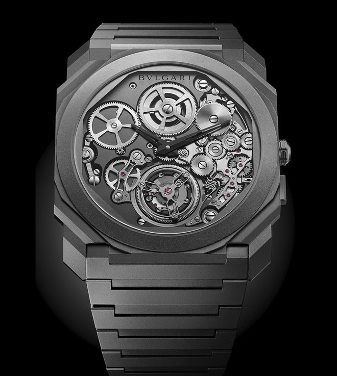 Baselworld 2018 Bvlgari Octo Finissimo Tourbillon Automatic sets New watchmaking records for world's thinnest self-winding watch ever and world's thinnest tourbillon timepiece