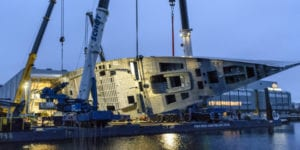A Sneak Peek of Royal Huisman's Largest Hull