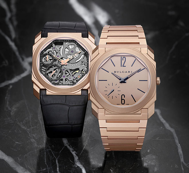 Bulgari's latest Baselworld 2018 Octo Finissimo Automatic Sandblasted also comes in a skeleton edition with ultra-thin entirely skeleton-worked Manufacture movement
