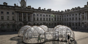 London Somerset House Art installation: Michael Pinsky's Pollution Pods