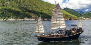 Wing Sing 53' Sailing Junk Cruises Hong Kong Waters
