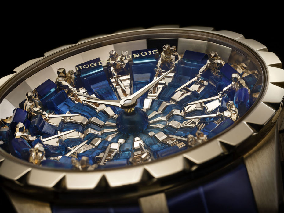 The new Roger Dubuis Excalibur Knights of the Round Table III with low polygon renditions of Arthur and his Knights.
