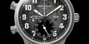 Titanium Patek Philippe Calatrava Pilot Travel Time for Charity Auction