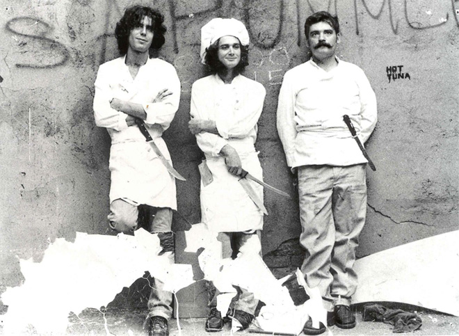A young Bourdain as he apprenticed in seafood restaurants in Providence before he decided to enrol in the CIA, the Culinary Institute of America, that is.