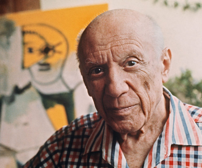 Spanish painter and sculptor Pablo Picasso created 'Guernica' to represent Spain at the 1937 World Fair in Paris (Photo credit AFP/RALPH GATTI)