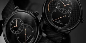 The Limited Edition Jaquet Droz Grande Seconde Black Ceramic Power Reserve Clous de Paris