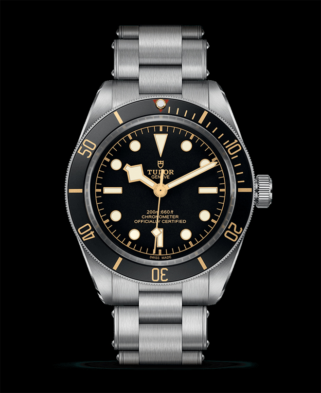 Tudor pays tribute with to their first diver's watch with a similarly proportioned Black Bay 58 driven by the new COSC certified Manufacture Calibre MT5402