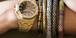 Audemars Piguet Royal Oak Frosted Gold Carolina Bucci – Artisan's Namesake watch