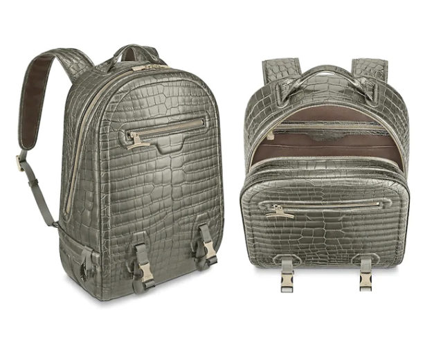 fe072f446dc8 The world s most expensive backpack – Louis Vuitton Crocodilian Leather  Backpack