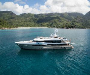 The 55m Lili is embarking on an two-year charter tour around the world