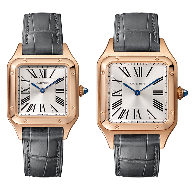 2fc3cbfa1c68 Promoting the pure and symmetrical mirroring the four corners of the Eiffel  Tower, the Cartier Santos Dumont symbolised the design revolution of the  early ...