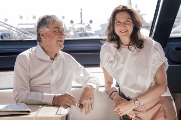 Azimut founder Paolo Vitelli with daughter Giovanna.