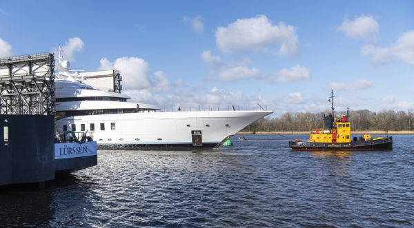 Lurssen launches 95m Madsummer; Photo: Klaus Jordan