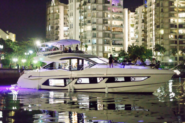 The Sunseeker 74 Sport Yacht at ONE 15 Marina, Sentosa Cove