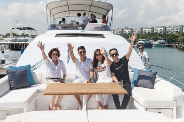 The Asia premiere of the Sunseeker 74 Sport Yacht was held in Singapore