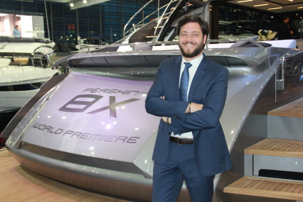 De Vivo at the world premiere of the Pershing 8X
