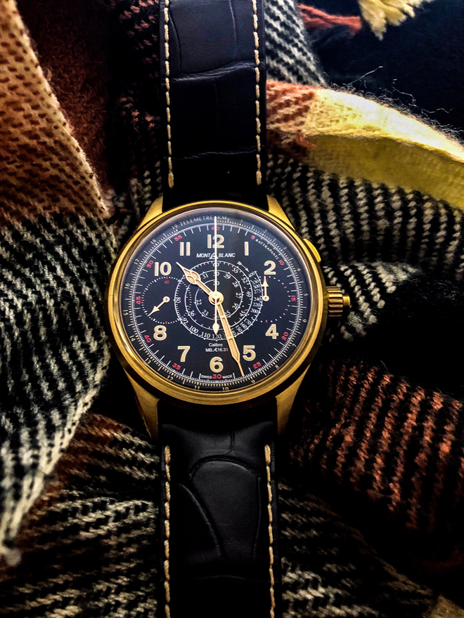 cb2b1cc1a2f1 Montblanc 1858 Split Seconds Chronograph in Bronze. Photography: Jonathan  Ho for WOW