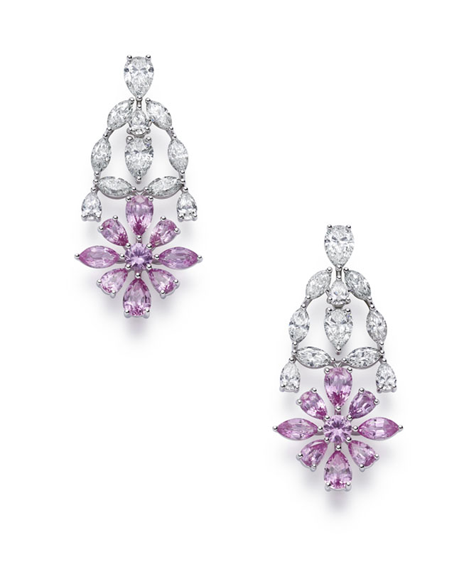 0cf4ae72e Offering vibrant pink sapphires and diamonds, the collection features  earrings that are entirely paved with diamonds and amethysts – vividly  expressing the ...