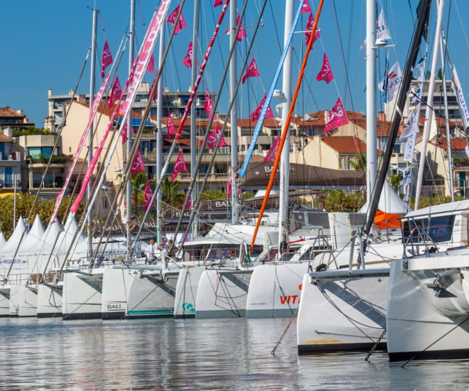 Catamarans at the 2018 Cannes Yachting Festival