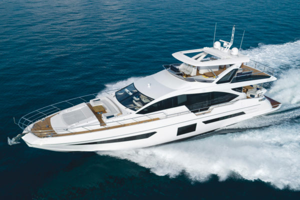 The Azimut Grande 25 Metri premiered at Cannes last September and arrived in Singapore this year