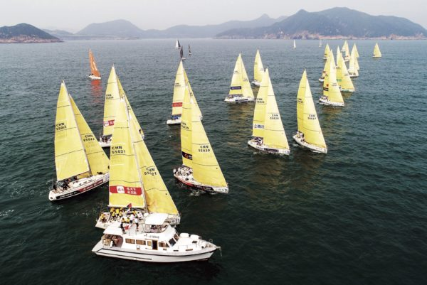 Beneteau one-design yachts sailing in the annual China Cup from Longcheer Marina in East Shenzhen