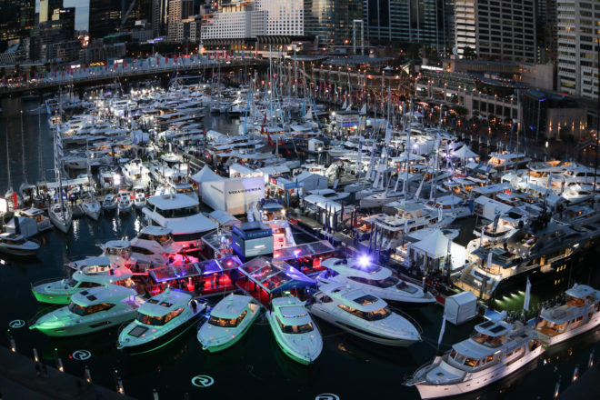 The show features about 200 boats in-water at Cockle Bay Marina in Sydney's Darling Harbour