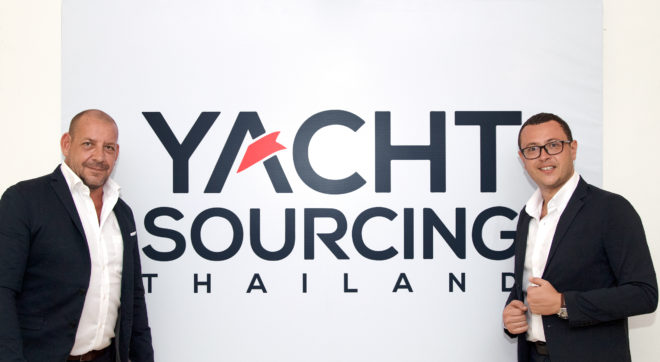 Yacht Sourcing co-founder Xavier Fabre (left) with Nicolas Monges (right), General Manager of the company's Thailand operation