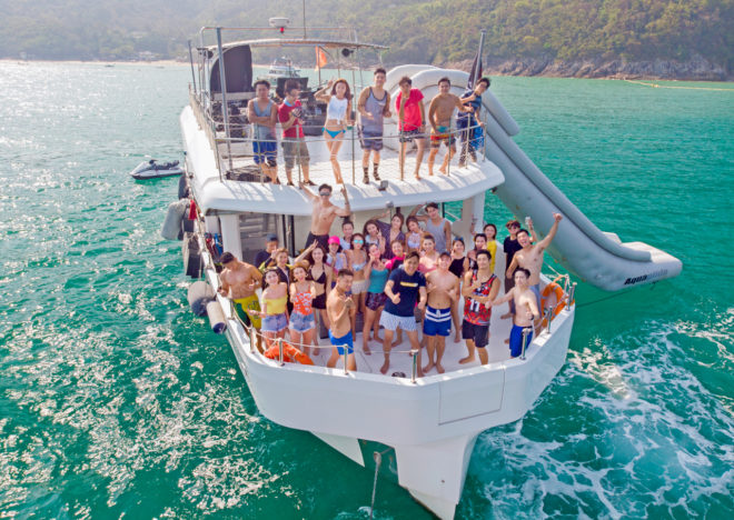 Day charters and special occasions dominate charter activity in Hong Kong