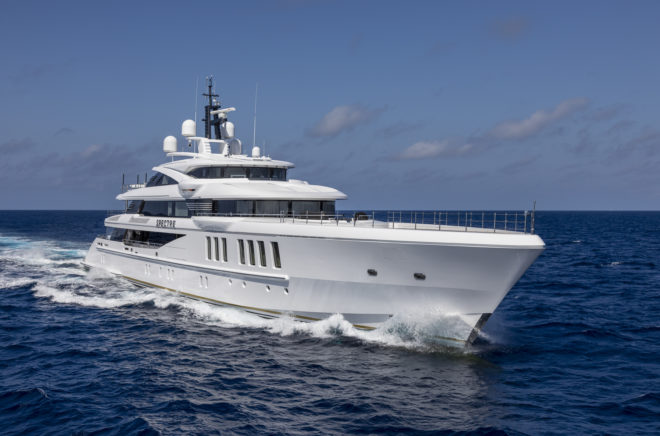 Benetti's 69m Spectre won the 'Displacement Motor Yachts 500-1,999GT' category at the 2019 World Superyacht Awards in London