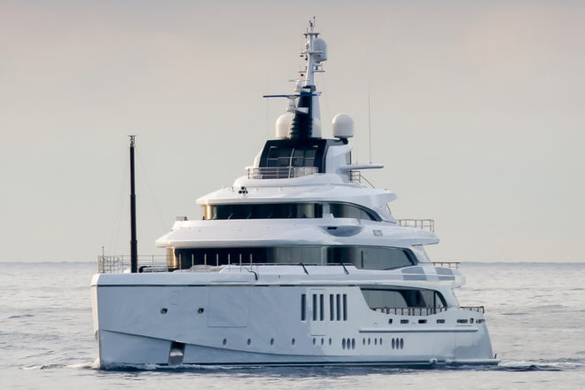 The 63m Metis is Benetti's biggest yacht at the Monaco Yacht Show