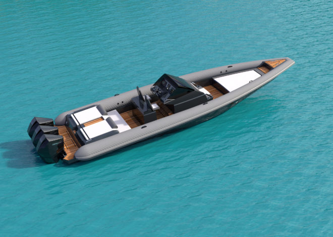 Technohull's 38 Grand Sport topped 100 knots in pre-production testing and is scheduled for an October launch