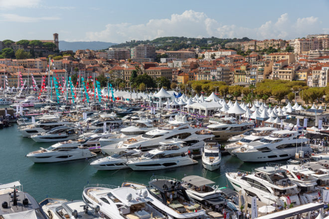 Vieux Port is dedicated to motor yachts for this year's Cannes Yachting Festival (September 10-15)