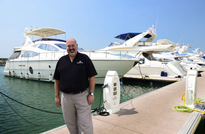 Scott Finsten, Harbour Master at Ocean Marina Yacht Club, Southeast Asia's largest marina