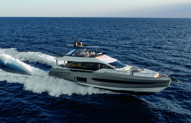 Azimut's 78 Fly was one of the Italian builder's four world premieres