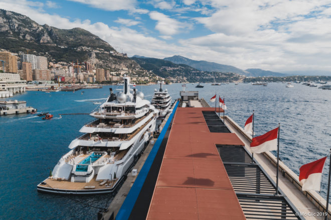 The new 106m Amadea, listed for sale by Imperial, features a 10m infinity pool, cinema with vibrating seats, spa and eight guest cabins