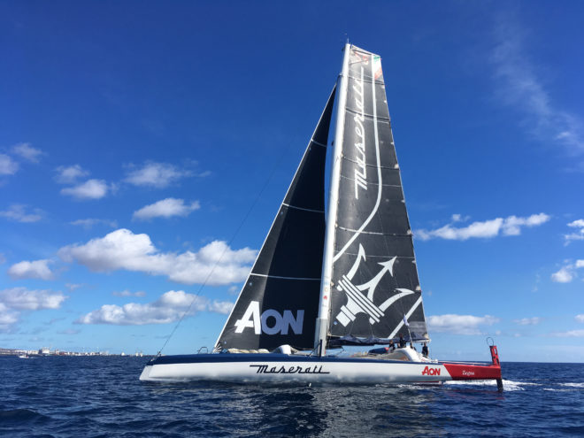 Skippered by Italian Giovanni Soldini, Maserati Multi70 is making her debut in the Hong Kong to Vietnam Race debut