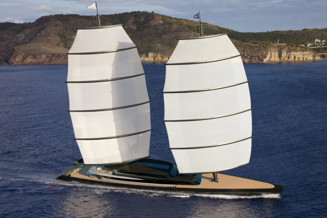 A letter of intent was signed for Perini Navi's 92m Falcon Rig