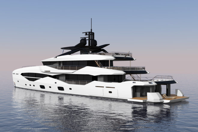 The aluminium-hulled 161 Yacht is scheduled for delivery in September 2022