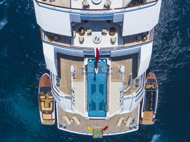 Amadea's features include a 10m infinity pool