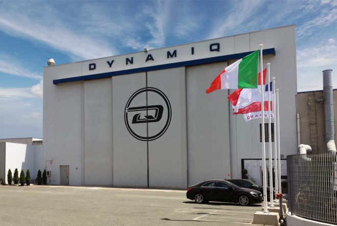 Dynamiq's shipyard is located in Massa in Tuscany