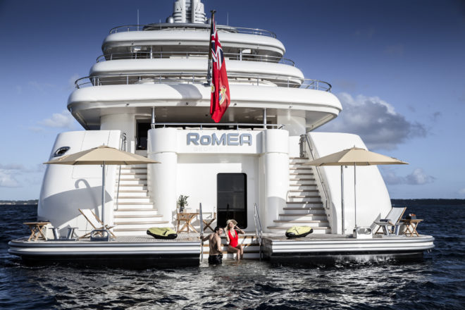 The 82m RoMEA is chartering in Asia for the first time; Photo: Imperial