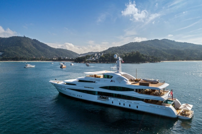 The Kata Rocks Superyacht Rendezvous has been a megayacht magnet since 2016