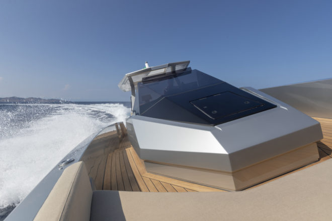 The 48 Wallytender can reach 38 knots in calm conditions and is the first model unveiled by Wally since the iconic brand became a part of Ferretti Group