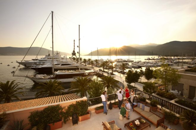 Welcoming facilities are a must for the attractiveness of a superyacht marina; (C) Porto Montenegro