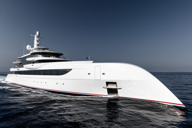 The 80m Excellence by Abeking & Rasmussen; Photo: Guillaume Plisson