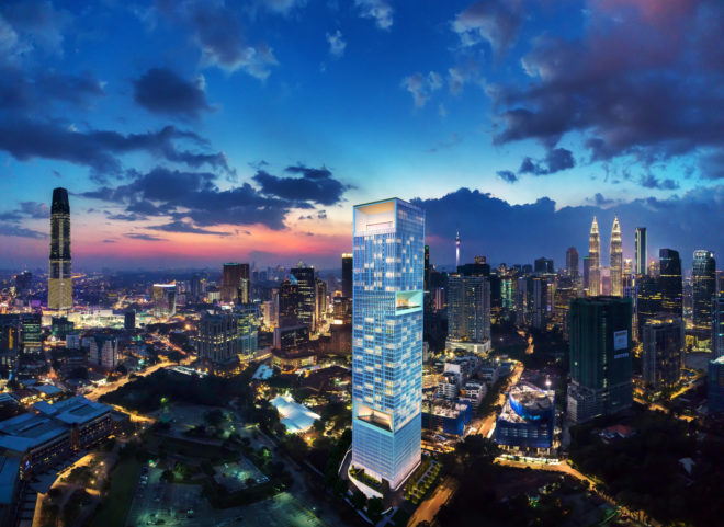Conlay's aerial perspective in Kuala Lumpur