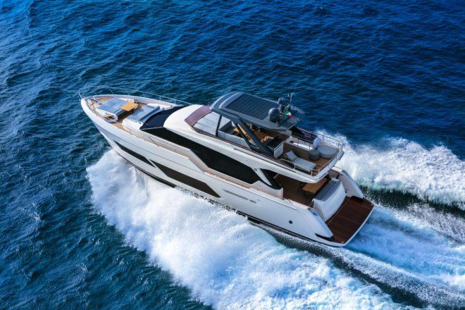 A Ferretti Yachts 720 will head to Australia