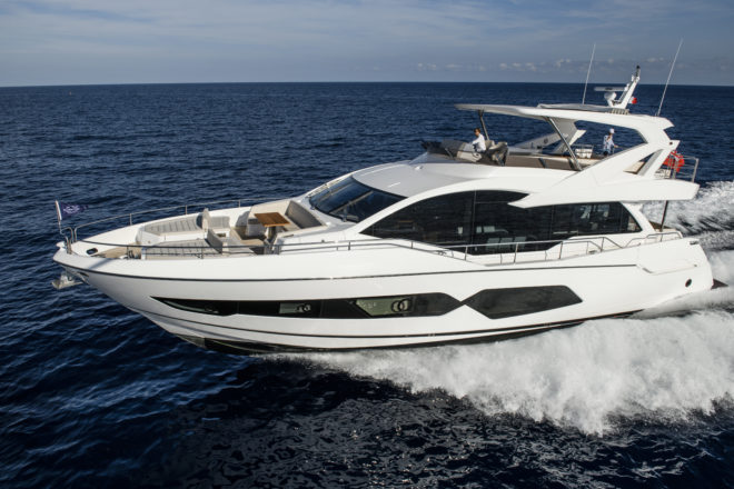 The popular Sunseeker 76 Yacht has arrived in Singapore and Thailand